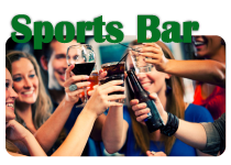 sports bar at Magruders Pub